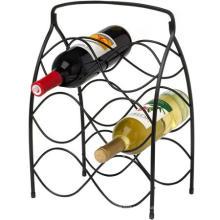 Neko 6 botellas negro estante del vino del Metal