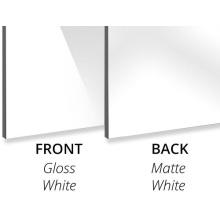 Алюминиевая композитная панель, 3 мм, глянцевый белый / матовый белый