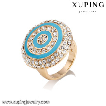 14443 Fashion jewelry luxury ring designs, 18k gold color new gold ring models for women