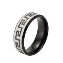 Regulador de anel de prata de alta qualidade, anel de jóias, anel com padrão de caracteres