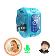 Traqueur de GPS de montre-bracelet d'enfants avec le moniteur, alarme anti-perdue (wt50-kw)