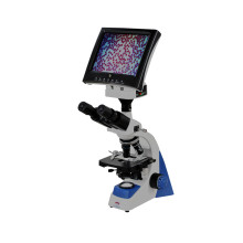 LED Display Binocular Biological Microscope with LCD Screen