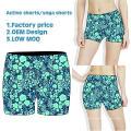 Ropa deportiva sublimada, pantalones cortos de compresión de ajuste seco, pantalones cortos de baile de mujer