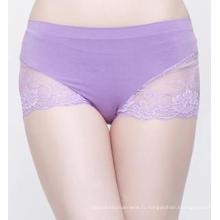 Bambou fibre Womens Seamless Slip dentelle Sexy Lingerie