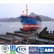 Airbag en caoutchouc pour le lancement et l'atterrissage des navires