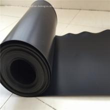 Lámina de plástico negro Membrana impermeable Geomembrana HDPE