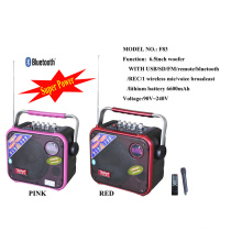 Mini Bluetooth Battery 6.5 Inch Speaker with USB SD FM F83