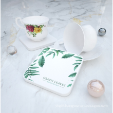 Water absorbent diatomite coaster cup holder