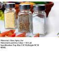 Lead -Free Jar Set Gewürzglas-Glas mit Dichtung Deckel