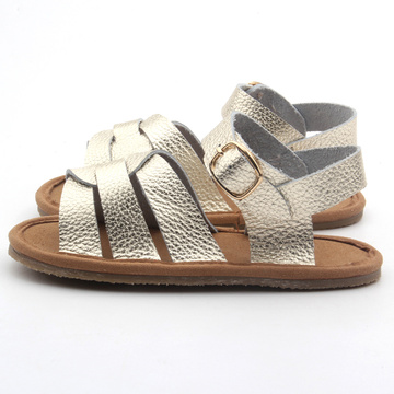 Golden Color Summer Baby Sandals