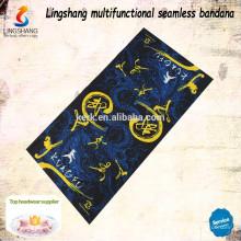 Kundenspezifische nahtlose Abnutzung Bandana mit Digital gedruckten Schlauch Stirnband Schal