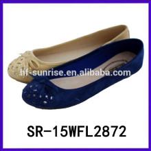 Heißer verkaufender Beleg auf flachen Frauen arbeiten flache Schuhe Frauen 2015 um
