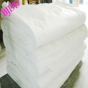 Poly plain weave white fabric