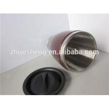 2015 best sales Doppelwand Keramik Kaffeebecher Qualitätsdrucken mit Griff BPA-frei