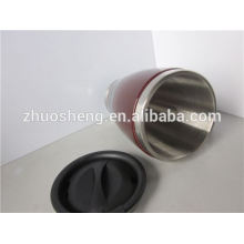 impresión de 2015 mejor ventas alta calidad doble pared taza de café de cerámica con mango de BPA libre