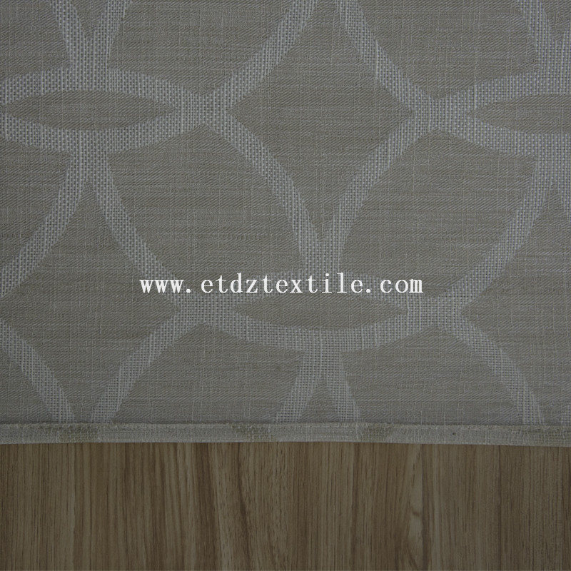 Popular Typical Designs of 100% Polyester Slub Cationic Piece Dyed Linen Like Curtain fabric 6005-55
