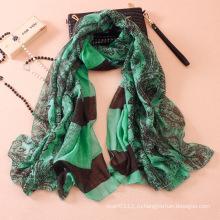 Женщины мода Пейсли хлопок Шелковый шарф (YKY1143)