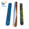 Chinese supplier custom silicone material slap wristband bracelets
