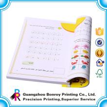 Impresión personalizada a granel libro infantil de tapa blanda con líneas negras
