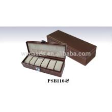 caja de reloj de cuero para 6 relojes por mayor fabricante