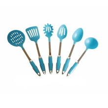 Синий нейлон посуда 6шт набор кухонной утвари
