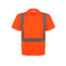 Kurze Hülse Hohe Sichtbarkeit Sicherheit T-Shirrt