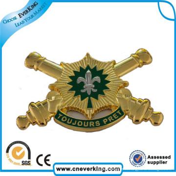 Großhandelsgewohnheit mit Militärmetallknopf-Namensreverspin-Abzeichen
