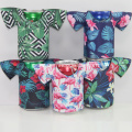 T-shirt shape flower pattern can coolers