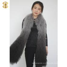 2015 Новая мода дамы зимой целые кожи Подлинная Монгольский меховой шарф