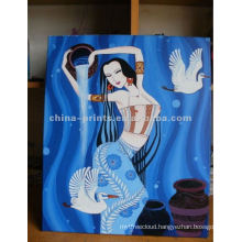 Sexy Half Nude Woman Portrait Canvas Oil Painting