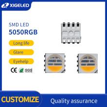 Perlas de lámpara SMD de la serie 5050RGB de tres pruebas