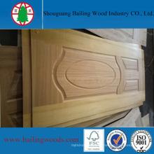 Piel de puerta barnizada de madera barata