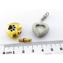 Тип Urn и приложение для взрослых Новая нержавеющая сталь Выдолбленная подвеска для сердца Кремация