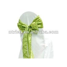 Pintuck taffeta wedding chair sash for wedding and banquet