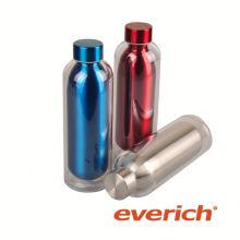 Meistverkaufte auslaufsichere quadratische Edelstahlgetränkflasche