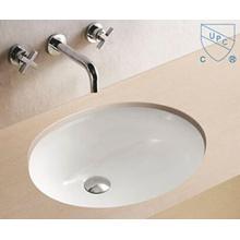 Cuarto de baño de alta calidad bajo el lavabo del fregadero del lavabo de la mano de la porcelana del arte de la forma redonda oval redonda