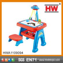 Niños Multifuncional Educationally Dibujo Juguetes Juegos Pintura Juguete proyector de aprendizaje de mesa para niños