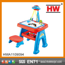 Crianças Multifuncional Educacionalmente Desenho Brinquedos Conjuntos Pintura Toy projetor aprendizagem mesa para crianças
