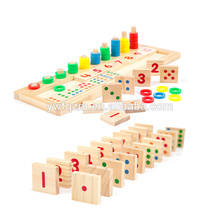 Venta caliente bloque de madera cubo rompecabezas 3d Domino