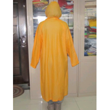 impermeable impermeable largo de pvc amarillo