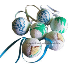 Attractive Knitted Christmas Ornaments Ball
