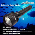 JEXREE Factory 3*XML2- T6 led chip Waterproof IPX8 LED Diving Flashlight