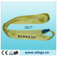 3tx1m amarelo poliéster webbing sling fator de segurança 7: 1