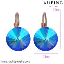 93898 xuping 2018 Swarovski crystal hoop earrings, fashion ladies earring
