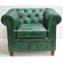 Sofá de sofá de couro genuíno