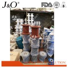Soupape de pincement serrant l'alliage d'aluminium pneumatique industriel de quantité élevée