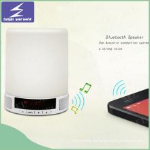 Nuevo diseño LED Noche Luz Tocuh Lámpara Bluetooth Altavoz