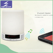 Nouvelle conception LED Night Light Tocuh Lampe Bluetooth Speaker