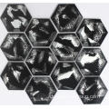 Schwarze Hexagon Crystal Mosaik