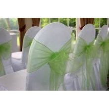 wholesale fancy and beautiful organza chair sash/chair cover bow for wedding banquet chair cover
